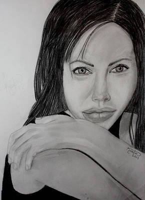 Drawing - Angelina Jolie by Kimber  Butler