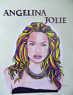 Angelina Jolie Art Print by Mary Sperling