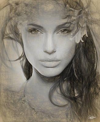 Angelina Jolie Art Print by Quim Abella