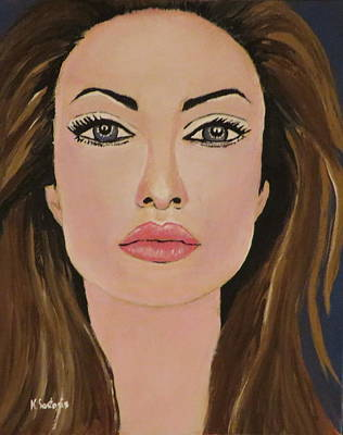Kathleen Painting - Angelina  by Kathleen Sartoris