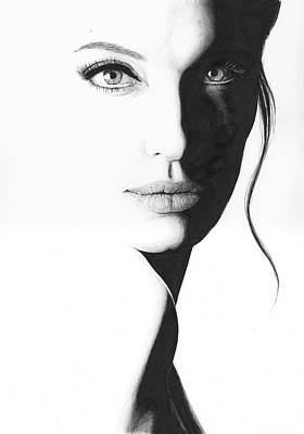 Drawing - Angelina by Rob De Vries