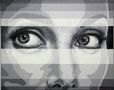 Painting - Angelina's Eyes by Matthew Martelli