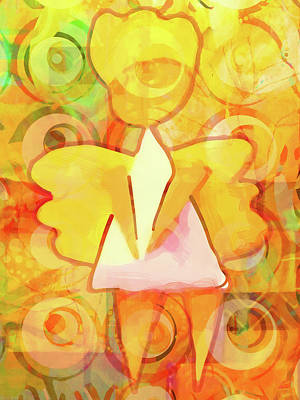 Mixed Media - Angelino Yellow by Lutz Baar