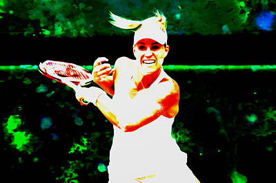 Wta Digital Art - Angelique Kerber 3c by Brian Reaves
