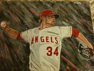 Oakland Athletics Painting - Angels 34 First Pitch by Daryl Williams Jr