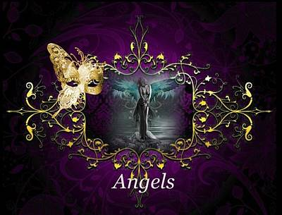 Digital Art - Angels by Ali Oppy