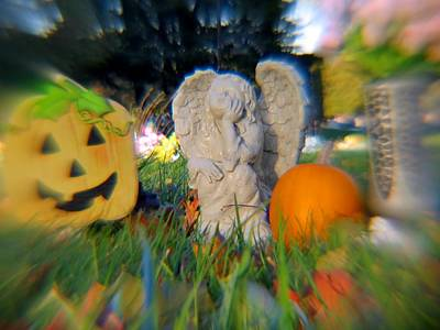 Photograph - Angels And Pumpkins by Kyle West