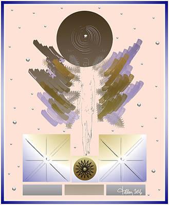 Digital Art - Angels - Archangel Raguel by Larry Talley