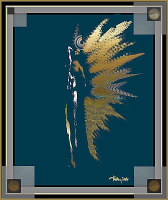 Digital Art - Angels - Archangel Uriel by Larry Talley