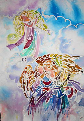 Painting - Angels Assending by AnnE Dentler