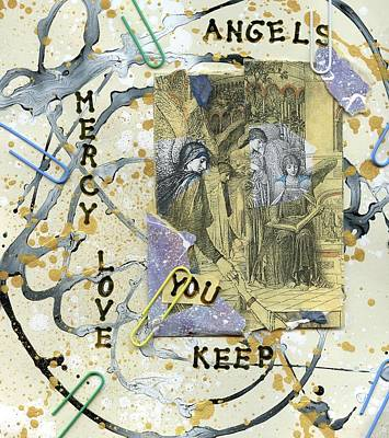 Angels At Work #1  Art Print by Patsy Stanley