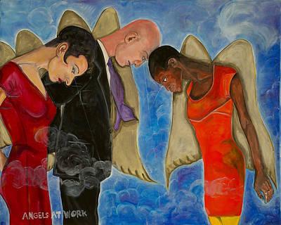 Angels At Work Art Print