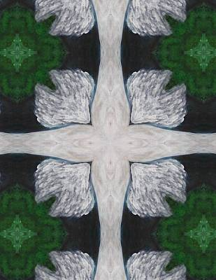 Digital Art - Angel's Cross by Maria Watt