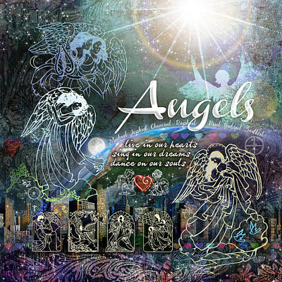 Digital Art - Angels by Evie Cook