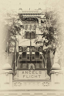 Photograph - Angels Flight Lower Station by Celso Diniz