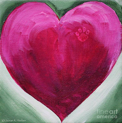Painting - Angel's  Heart by Susan Herber