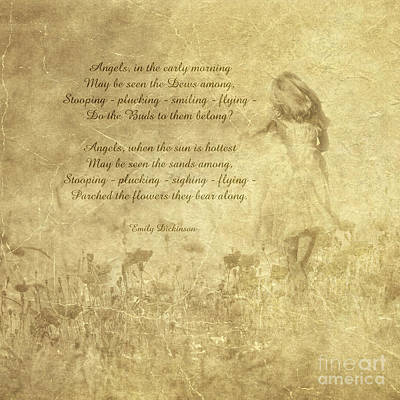 Photograph - Angels In The Early Morning Poem By Emily Dickinson by Olga Hamilton