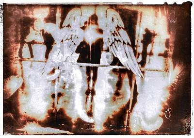 Mixed Media - Angels In The Mirror by Christine Paris
