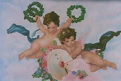 Painting - Angels In The Sky by Ronnie Jackson