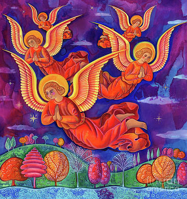 Night Time Painting - Angels by Jane Tattersfield