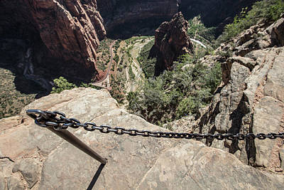 Photograph - Angels Landing Hold On by John McGraw