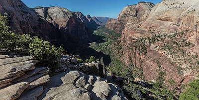 Photograph - Angels Landing The View  by John McGraw