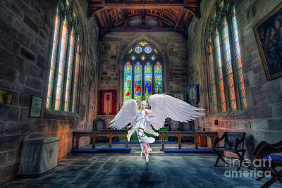 Angels Love And Guidance Art Print