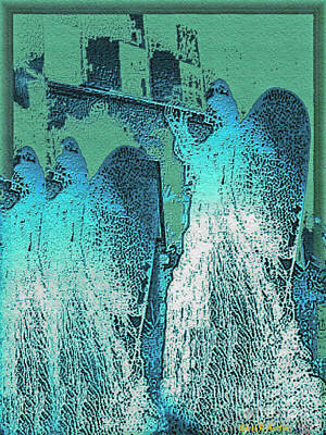 Photograph - Angels Marching To The Beat Of The City Lights by Carol F Austin