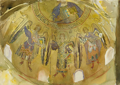Drawing - Angels, Mosaic, Palatine Chapel, Palermo, 1897-1903 by John Singer Sargent