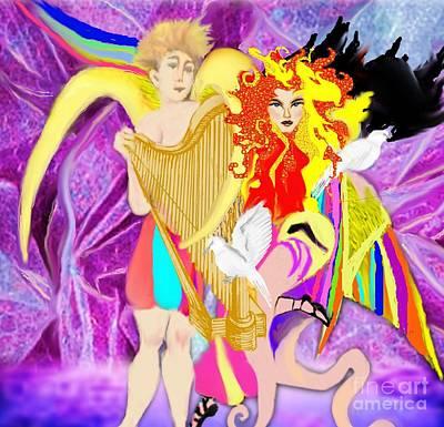 Painting - Angels Of Love by Belinda Threeths
