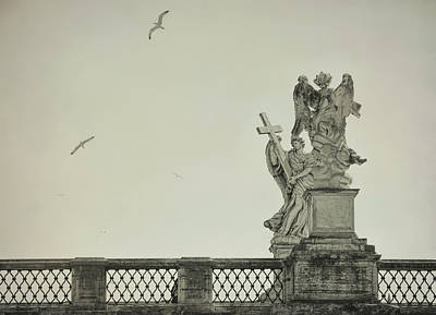 Photograph - Angels Of Ponte Sant' Angelo by JAMART Photography