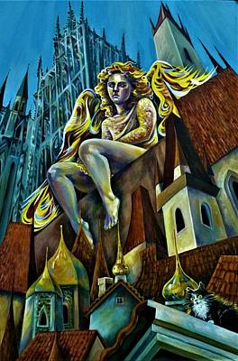 Painting - Angels Of Prague. by Anna Duyunova