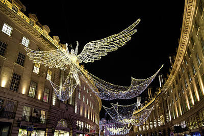 Photograph - Angels Of Regent Street 5 by Shirley Mitchell