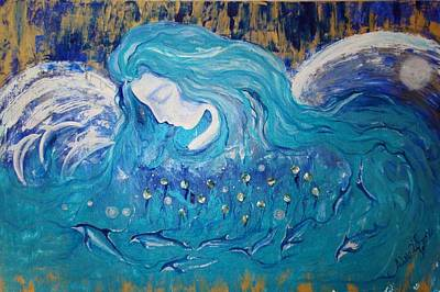 Angels Of The Sea.. Wild Dolphins Art Print