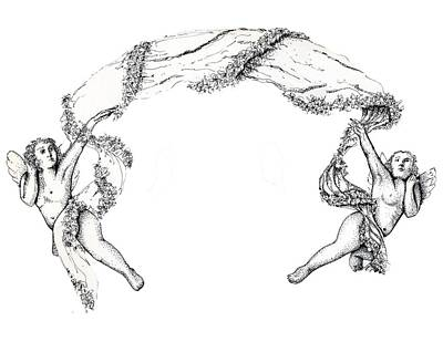 Drawing - Angels On High by Thomas Lupari