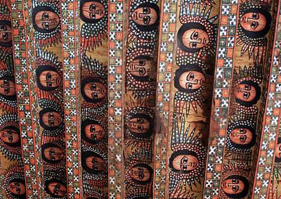 Angels On The Ceiling Of Debre Birhan Selassie Church Art Print by Aidan Moran