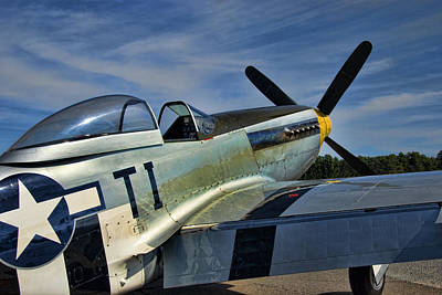 Photograph - Angels Playmate P-51 by Steven Richardson