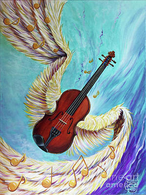 Painting - Angel's Song by Nancy Cupp