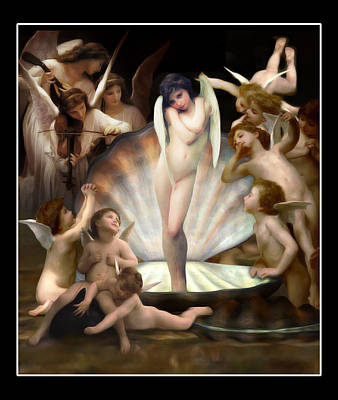 Parody Mixed Media - Angels Surround Cupid  by Gravityx9  Designs
