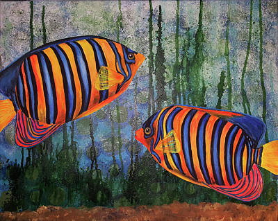 Mixed Media - Angels Under Water by Sandra Wallace