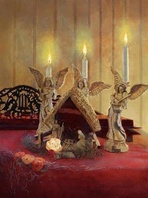 Painting - Angels Watching Over by Nancy Lee Moran