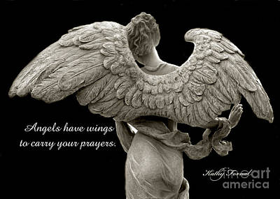 Angel Art Photograph - Angels Wings - Inspirational Angel Art Photos by Kathy Fornal