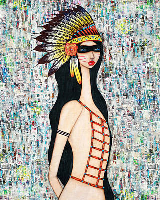 Art Print featuring the mixed media Angeni by Natalie Briney