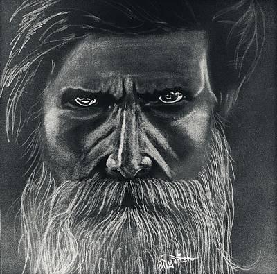 Anger Baba Art Print