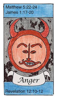 Revelation Drawing - Anger by Chayla Dion Amundsen-Noland