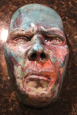 Raku Sculpture - Anger by Donovan Hettich