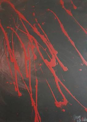 Gash Painting - Anger by Elizabeth Wallace