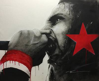 Zack De La Rocha - ' Anger Is A Gift ' Art Print by Christian Chapman Art