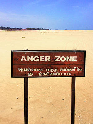 Photograph - Anger Zone by Dominic Piperata