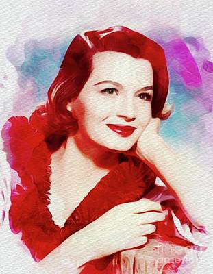 Painting - Angie Dickinson, Vintage Movie Star by John Springfield